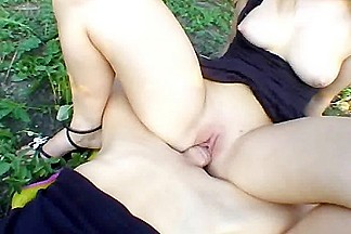 My busty gf getting fucked sill in the back yard