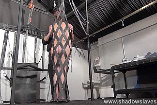 Bizarre bondage and amateur spanking of whipped amateur ### girl Lexy in frontal flogging and leather whip punishments