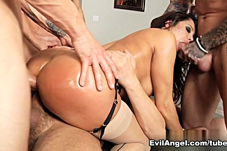 Hottest pornstars Alec Knight, Ariana Marie, Marco Banderas in Incredible Gangbang, Stockings porn video