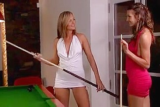 Playing Pool In Spandex
