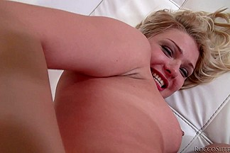 Rocco offers an anal fingering to a beautiful blonde