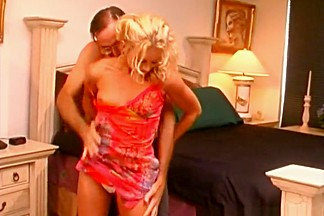 Crazy pornstars Monica Mayhem and Nina Hartley in amazing blonde, lingerie sex clip