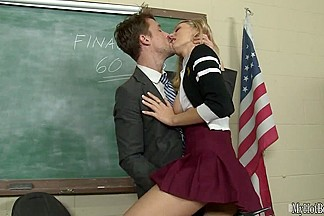 Hot and leggy blonde, Natalia Starr, plays a Polish exchange student who is