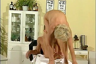 German flexible blonde milf fucked on the floor