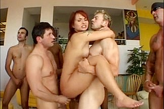 Katja Kassin fucked in the a-gap by 12 fellows