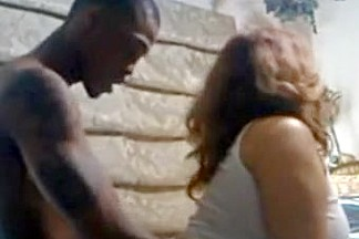 Black guy fucks a chubby busty white girl doggystyle