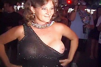 Naughty Party Girls Flash Their Tits