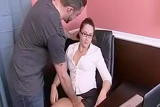 Secretary ass sticking out for the boss
