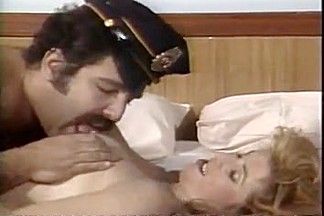 Cosplay scenes in a hot vintage porn video