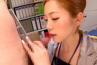Horny Japanese girl Asami Ogawa in Incredible secretary, stockings JAV movie