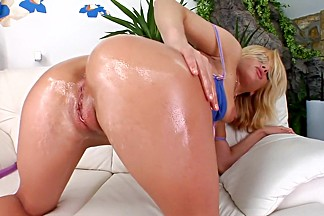 Hottest pornstar Silvia Saint in amazing blonde, masturbation sex scene