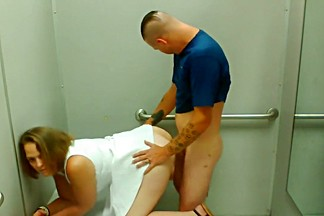 Quickie in the dressing room