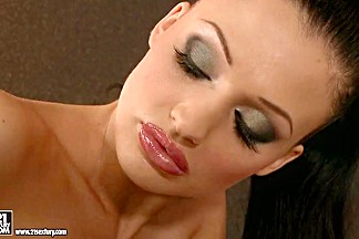 Huge titted Aletta Ocean loves dipping her sexy fingers in her simmering ho...