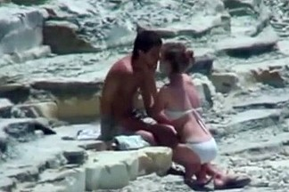 Legal Age Teenager lovers couple on beach