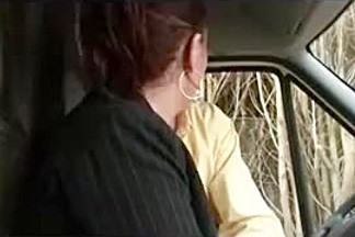 Horny french MILF fucked in a car and outdoor