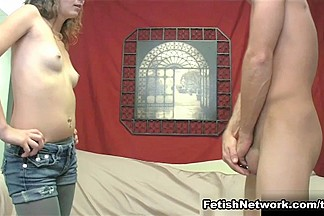 Mary Jane Breaks Up with Loser Boyfriend with a CBT & Mean Handjob