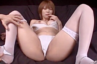 Hottest Japanese whore Mayu Nozomi in Amazing Masturbation/Onanii, Stockings/Pansuto JAV video