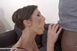 Cum Craving Cuckold watches wife fucked by a black man rough