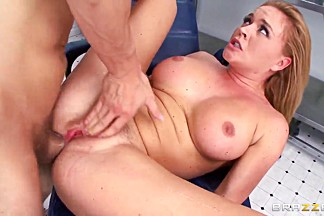 Krissy Lynn is being brutally fucked in her wet pussy by a dick