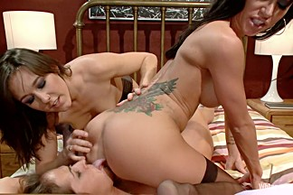 Crazy milf, lesbian xxx video with horny pornstars Gia DiMarco, Elexis Monroe and Sinn Sage from Whippedass