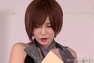 Yuria Satomi Asian chick knows how to suck a raging hard on