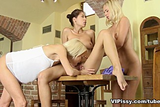 Lena Love and Noleta and Paula Shy in HD Pissing Video 3 Days 3 Mates
