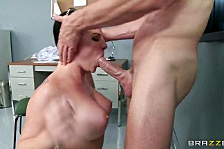 Naughty brunette office worker Casey Cumz and her workmate Johnny Sins are having wild naughty fuck at office.