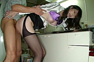 Fabulous Japanese model Hana Masaki in Crazy stockings, lingerie JAV scene