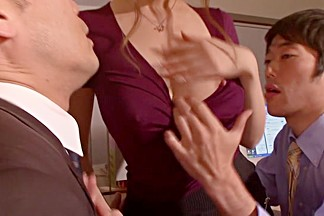 Exotic Japanese whore Yuria Kiritani in Crazy office, stockings JAV movie