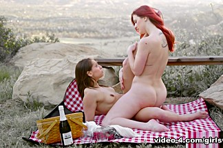 Amazing pornstars Sara Luvv, Little Cindy in Incredible Outdoor, Lesbian porn scene