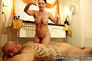 Janet Mason, Derrick Pierce in Second Hand Nuru Scene