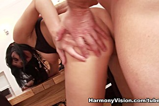 Black Angelika in Tables And Titfucking - HarmonyVision