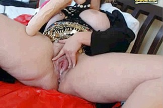 Hot Mature with Huge Dildo