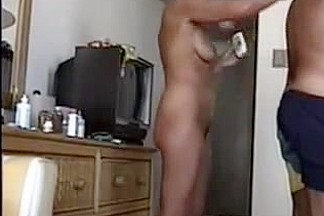 Amateur mature couple recorded a video from their vacation