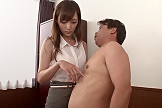 Exotic Japanese girl Kaede Fuyutsuki in Amazing secretary, couple JAV scene