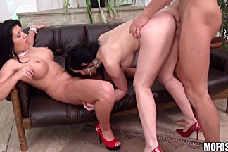 Amanda Black, Angell Summers - Romania And France, Sharing Some Cock