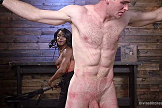 Kelli Provocateur & Jonah Marx in Ebony Dominatrix Kelli Provocateur Punishes Sub Man And Fucks His Ass - DivineBitches