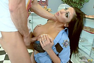 Johnny Sins' cock is made for Honey White's mouth