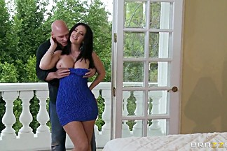 Husband called Johnny with his huge dick to fuck his sexy and hot wife Jayden