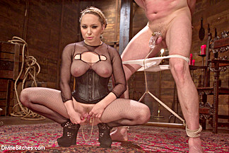 Bastian Daniels & Aiden Starr in Extreme Femdom Chastity - DivineBitches