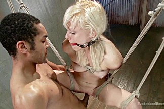 Best fetish, blonde xxx clip with amazing pornstars Mickey Mod and Elyssa Greene from Dungeonsex