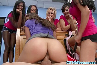 CFNM sorority babe fucked in front of group
