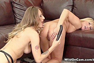 Horny pornstars Natasha Starr, Kate England in Hottest Big Ass, Tattoos porn scene
