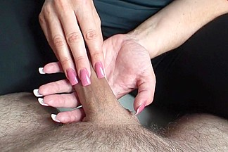 pink tickling nails