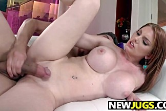 Busty redhead Lilith Lust gets nailed