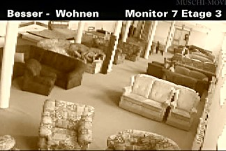 A couple thought no one is watching when they tried out a store couch for sex