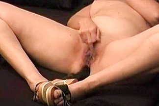 German Wife Masturbating Anal with Vib.