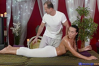 Anna Rose & George in George On Anna - MassageRooms