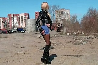 russian slut flashing milk cans and love tunnel in street