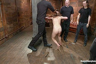 Gorgeous French Girl Taken Down in Rough Gangbang
